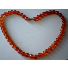 SUPERB QUALITY & BEAUTIFUL 8MM CARNELIAN BEADS NECKLACE